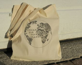 Vegan For The Planet Tote Bag