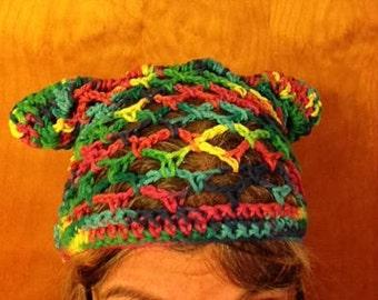 Multicoloured Kitty Hat