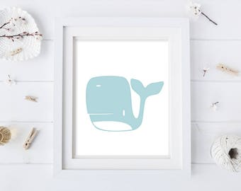 Whale Nursery - Nursery Print - Printable Nursery - Nursery Art - Kids Print - Animal Print - Print for Nursery - Whale Nursery - Animal Art