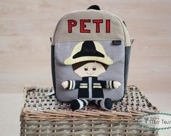 Fireman Backpack | Toddler backpack|gift for kids |Kids backpack | children backpack | Swinging legs backpack