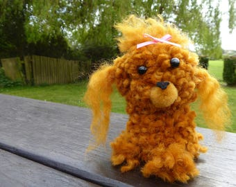 Pretty Poodle - Furry Pup made out of yarn for ages 6 and up