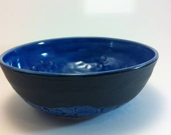 Cobolt Blue Bowl with Hex Wrench Detail