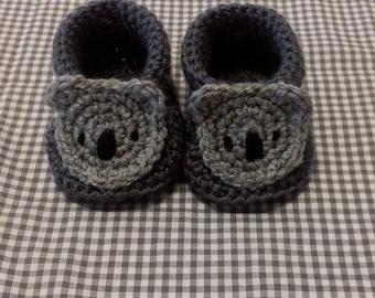 Handmade Baby Gift    Crochet Baby Booties   Koala Bear Booties   Handmade   Baby Shower Gift   New Baby   Baby Boy   Baby Girl