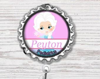 Nurse Badge Reel | Princess Nurse Bottle Cap Badge Reel | Badge Reel | Bottle Cap Retractable Badge Reel | Nurse Badge Reel | CNA Badge