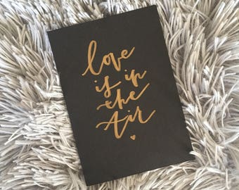 Love is in the Air Celebration Greeting Card