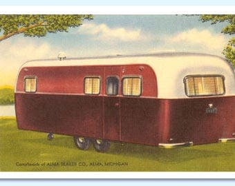 Postcards - Retro Travel Trailers - Booklet of 8 Full Color Removable Postcards – Vintage Campers - Charming - RV's - Camping - Road Trip