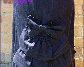 Womens Custom Long Denim/Jean Skirt