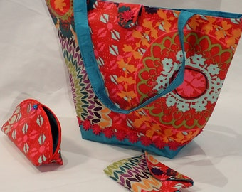 Cabas in summer with its accessories