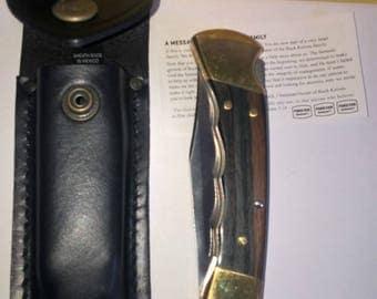 Authentic 1 superb US 100 folding Folding Hunter nine BUCK hunting knife