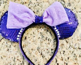 Purple Sequin Mickey Ears