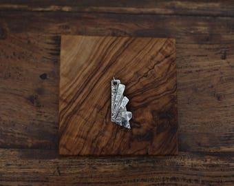 Silver Hammered Shard Pendant