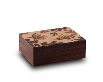 Jewellery cases of precious woods
