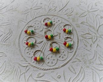 Set of 8 dread lock braid hair rings jewelry