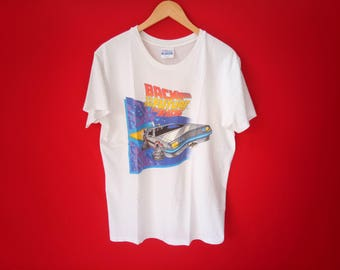 vintage Back to the future micheal j.fox movie t-shirt