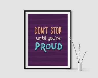 Typography quotes, decor, never give up, inspiring quotes, motivational,positive posters,optimistic prints,purple, 8X10 inches,life quotes