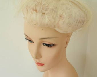 Rare Vintage Antique WHITE FEATHER HAT made in Germany Ladies Womens