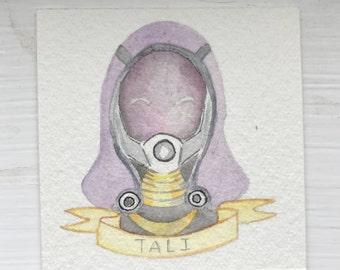 Tali - Mass Effect Watercolour Bust (original)