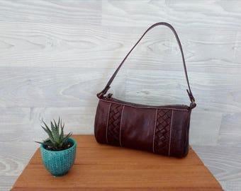 Leather shoulder bag, Brown leather bag, small leatehr bag, leather bag, Hannah Maddog Brown Handcrafted Leather Bag, Karamel, Leatherwork