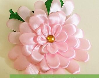Cute Pink Daisy Hair Tie (Handmade)