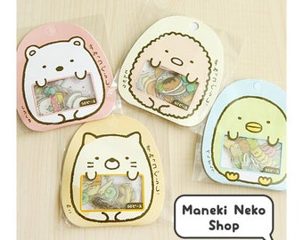 Sumikko Gurashi Sticker Flakes - Cute, Kawaii, Japanese, Planner, Bullet Journal, Happy Mail, Cat, Polar Bear, Penguin