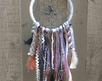 Dreamcatcher-purple, brown and grey