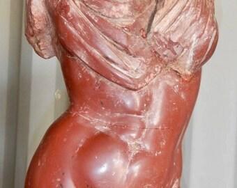 Torso in Rosso Vaticano marble