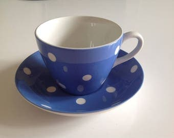 Domino Cup and Saucer by TG Green, Cornish Blue-related Dominoware