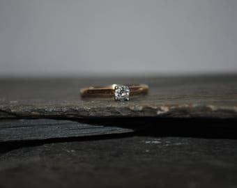 Solid 14k Yellow Gold Ring .20 Carat Diamond
