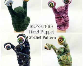 Crochet Pattern, Puppet Crochet Pattern, Crochet, Amigurumi Pattern, Toy Pattern, MONSTERS