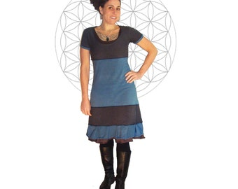 Organic Clothing - Organic Cotton and Hemp Dress- Just under Knee length - Short Sleeve  Organic dress -  Custom made and dyed just for you