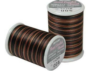 Miyuki Bead Crochet Thread, Size 8 .45mm diameter, 167dtex, 25 meters (27 yards) - #5 Pebblestone