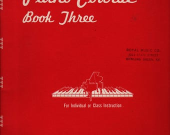 Eckstein Piano Course Book Three + 1951 + Vintage Music Book