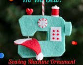 Ho Ho Sew! Sewing Machine Ornament PDF PATTERN