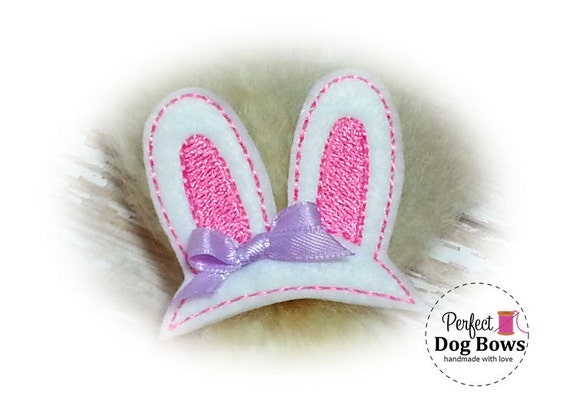 Pink DOG BOW Bunny Ears, Top Knot Bunny Ears, Easter Pet Gift, Easter Bunny