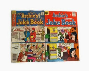 Archie Comics, Vintage 1972 Joke Book Laugh Out Issue 168 and 1978 No 242, TV Cartoon Show, Collectible Magazine, Paper Ephemera