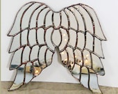 Versailles Angel - mirrored glass angel wings - made to order,  Angel Wings Mirror