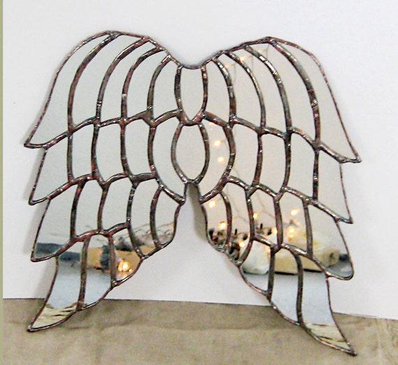 Versailles Angel - mirrored glass angel wings - made to order,  Angel Wings Mirror