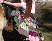 Patchwork Gypsy Broomstick Wrap Tutu, EXTREME Ruffles