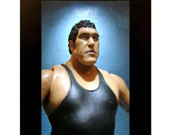 "Andre the Giant Toy Photograph 4"" x 6"" Framed Wrestling WWF"