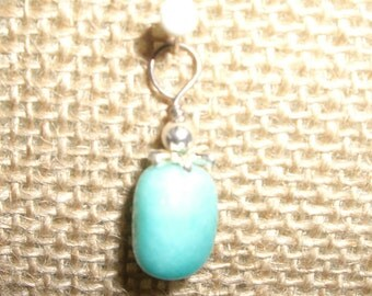 Small amazonite and sterling pendant