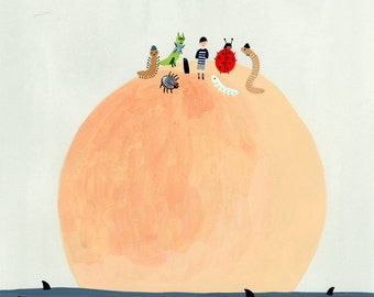 James and the Giant Peach Print 9x12