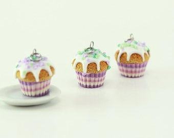 Lavender Confetti Cupcake Charm - The New Cupcakes Collection