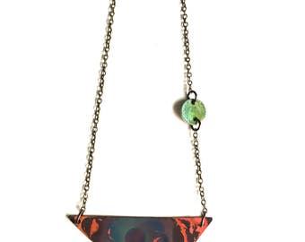 Triangle Patina Necklace