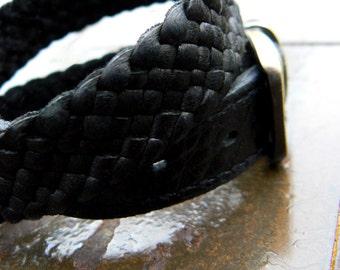 Kalani Braided Leather Bracelet   Men's Women's Leather Buckle Bracelet   Wrap Cuff Bracelet   Boho Urban Tribal Deerkskin & Latigo Weave