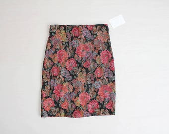 floral tapestry skirt | stretch skirt | high waist floral skirt
