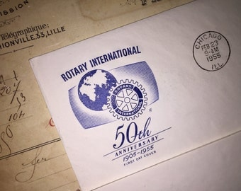 1955 Rotary International 50th Anniversary First Cover Envelope