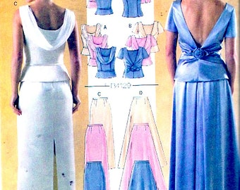 Elegant Brides outfit  lined tops skirts wedding Prom Grad sewing pattern Butterick 4129 Size 12 to 16 or 6 to 10 UNCUT