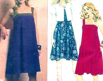 Flared Summer dress Sewing pattern with jacket cocktail party frock Butterick 5213 Size 8 to 14 Uncut