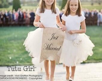 Flower Girl Tutu, Girls Tutus for Weddings, Custom Skirt