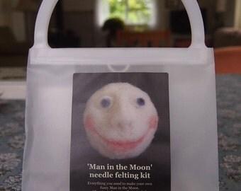 Needle felting kit...'Man in the Moon'